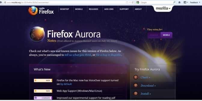 Скачать браузер FireFox Aurora бесплатно для Windows 10 32/64 bit