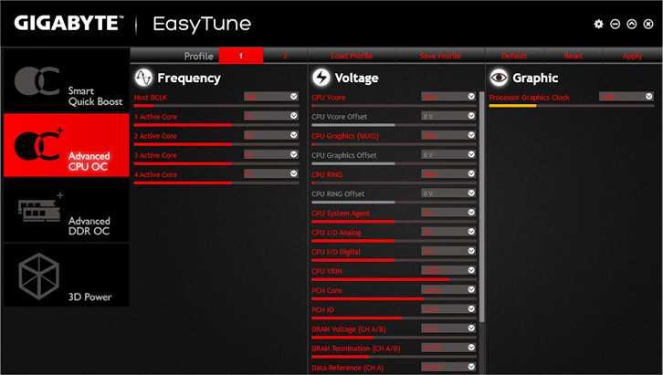 Скачать Gigabyte EasyTune бесплатно русская версия для