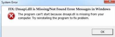 Файл dnsapi.dll