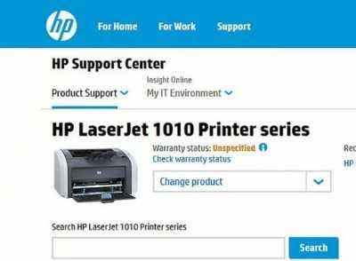 Драйвера для HP LaserJet 1010